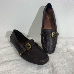 Coach Dark Brown Leather Loafer Flats - 8.5
